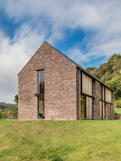 Sandstone Clad House In Wales Resembles Local Barns