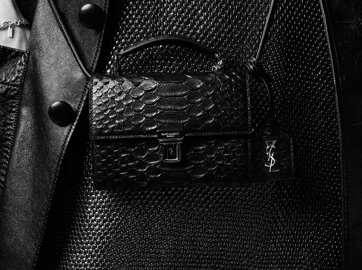 Saint Laurent Mini HIGH SCHOOL Satchel In Black Python Embossed ...