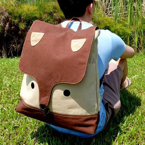 Backpack - The Fantastic Fox UNISEX BackPack (Brown Beige)