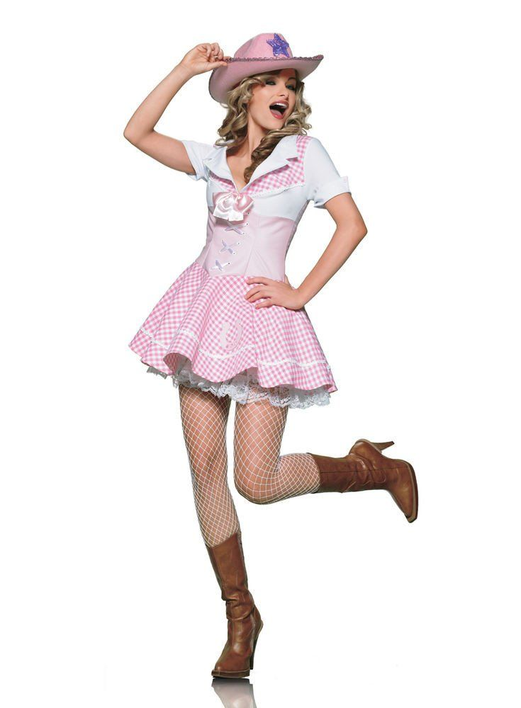 LA83155 Sexy Country Cowgirl Fancy Dress Costume