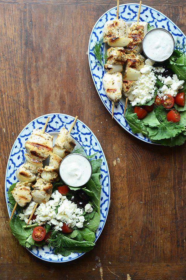 Easy Greek Chicken Kebabs Recipe - RecipeGirl.com