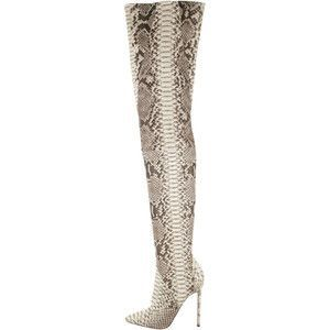 pre owned christian louboutin pigalle python thigh high boots rh pinterest co uk