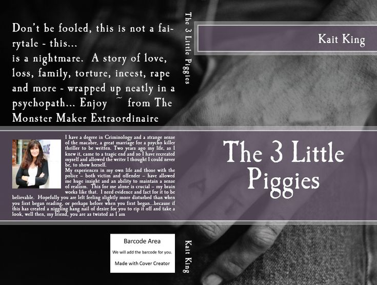 I have a degree in Criminology and a strange sense of the macabre, a great marriage for a psycho killer thriller to be written. And so I did! Now, The 3 Little Piggies is available on AMAZON :)) T...