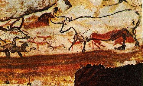 Hall of the Bulls, Lascaux | Paleolithic Paintings ...