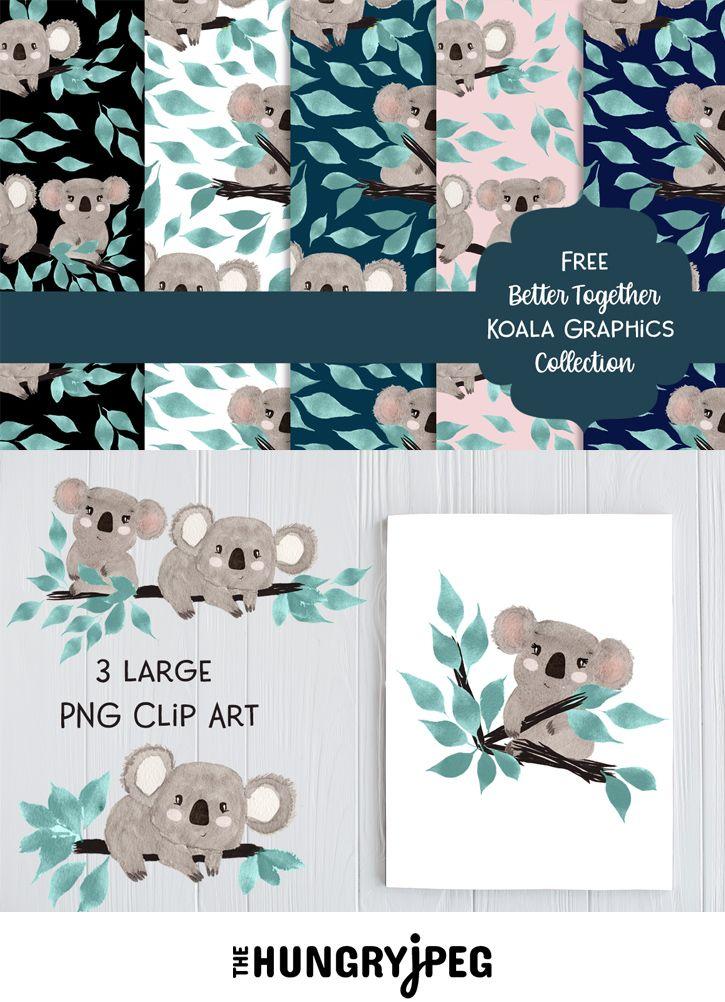 Free Koala Digital Papers Clipart In 2020 Free Scrapbook Paper Digital Paper Digital Paper Free