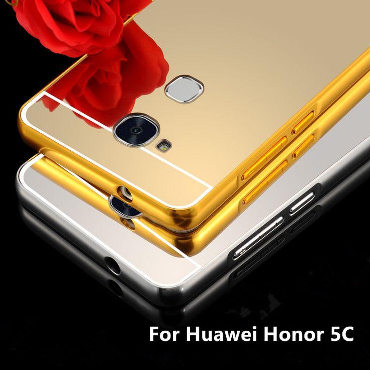 Pas cher Pour Huawei Honor 5c/Honor 7 Lite/GT3 Cas De Luxe Miroir En Métal En Aluminium + Acrylique Dur Quatrième de Couverture Accessoire Coque Funda Pour Honor5C, Acheter  Téléphone Sacs et Valises de qualité directement des fournisseurs de Chine:For Huawei Honor 5C/Honor 7 Lite/GT3 Case Luxury  Plating Gilded TPU silicone soft Back Cover Accessory Coque Fundas For