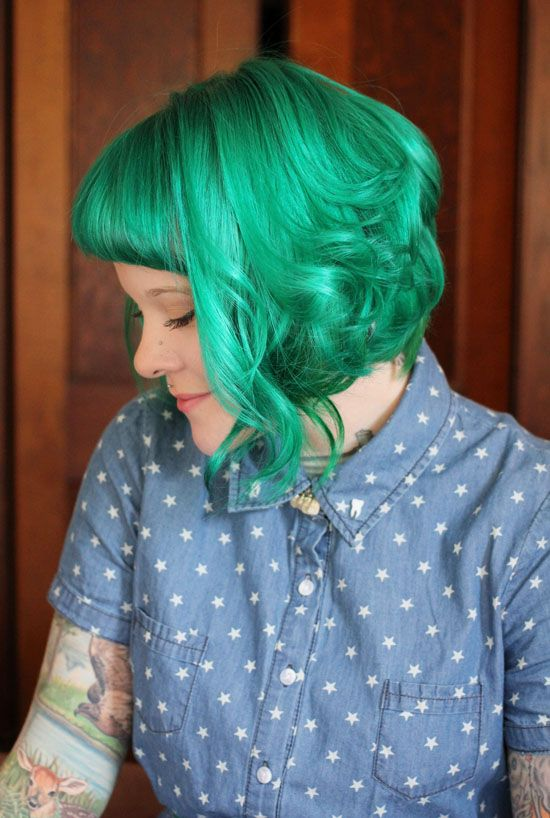 My annual haircut is coming up, and I love the layers in this. Plus my starring role is coming up in November (oy) so I should dye my hair weird colors ASAP.