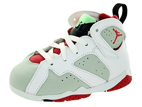 Nike Jordan Toddlers Jordan 7 Retro BT White/True Red/Light Slvr/Trmln