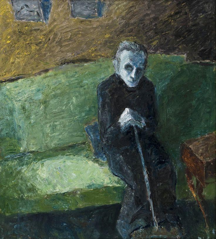 Elga Sesemann (Finnish, 1922-2007)  Vanhus [Old person], N/D  Oil on canvas, 106 x 91 cm