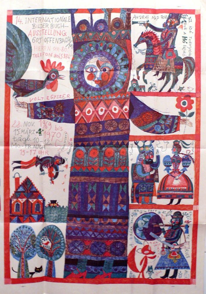 Würtz Ádám (graf.) - 14. Internationale Bilderbuch-Ausstellung 28 Nov. bis 15. Marz. - Múzeum Antikvárium