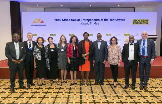 Remise des prix aux entrepreneurs sociaux de l'année lors du Forum Economique Mondial pour l'Afrique à Kigali | Photo : ©Schwab Foundation