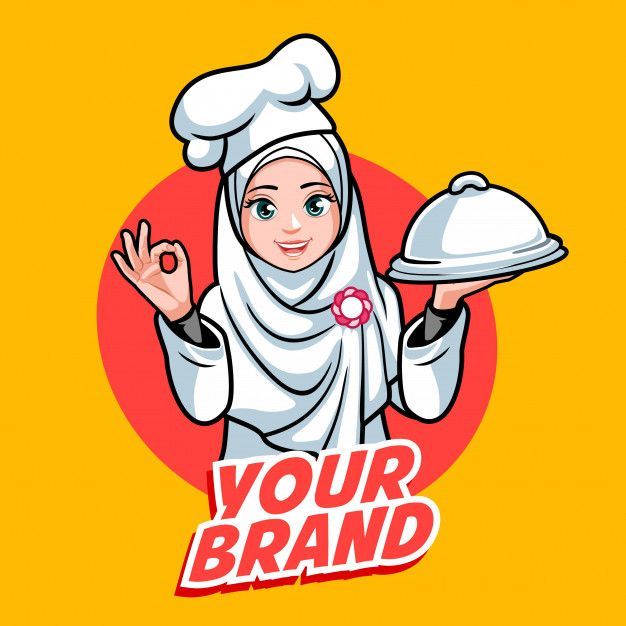 hijab chef woman in 2020 chef logo cartoon logo hijab logo hijab chef woman in 2020 chef logo
