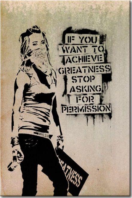 """Cartel de chapa """"Graffiti Slogan by Banksy"""" es un producto ideal para los jovenes y sus habitaciones o para las oficinas modernas. Os invitamos a conocer todos los modelos de la categoría 'Carteles de chapa' ツ"""