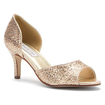 Gold Bridesmaid shoes - Touch Ups Jolee Champagne Glitter
