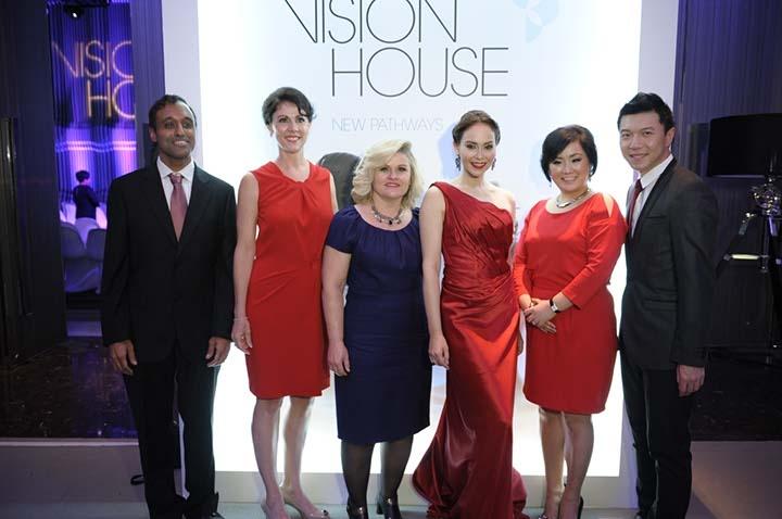Olay's esteemed speakers (from left), Murali Sampath, Maria Burquest (emcee), Mary Johnson, Nat Myria, Susan Park and Vorasit Turongsomboon (Gigg)