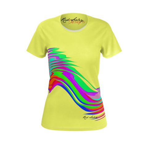 Rainbow Stripes Yellow - Women's T-Shirt (Jersey)