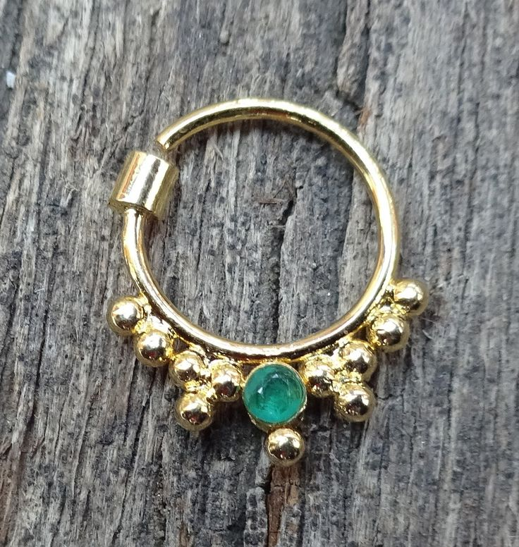 Septum Piercing, Brass Septum, Faux Septum, Septum for Piercing, 16g Septum,Indian Septum, Fake Septum Ring, Stone Septum, Nose Jewelry, CZ by TheEthnicJewels on Etsy