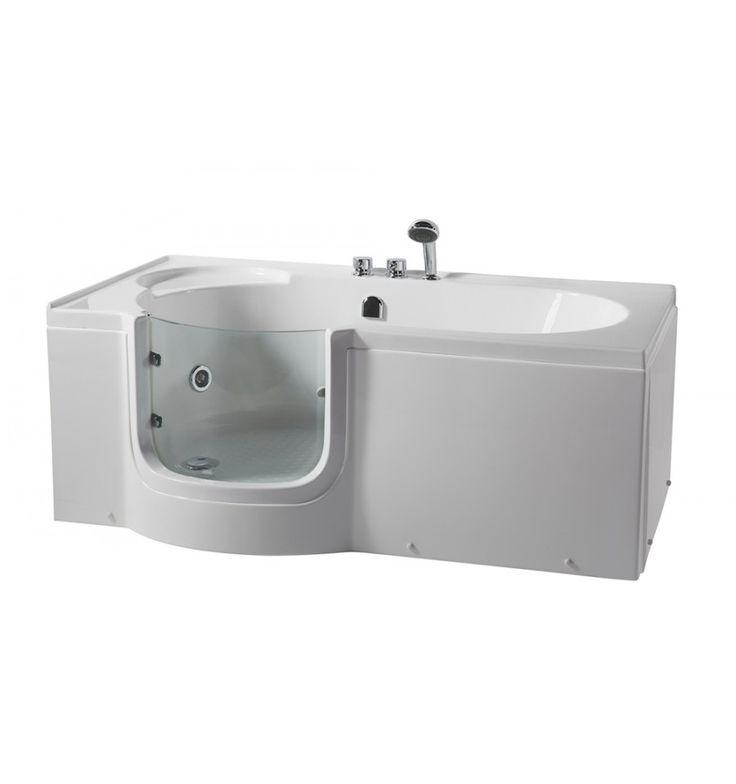 Baignoire à porte ULVA,, 170 * 80 * 62 cm pour personnes à mobilité reduite - baignoire design - mobilier salle de bain
