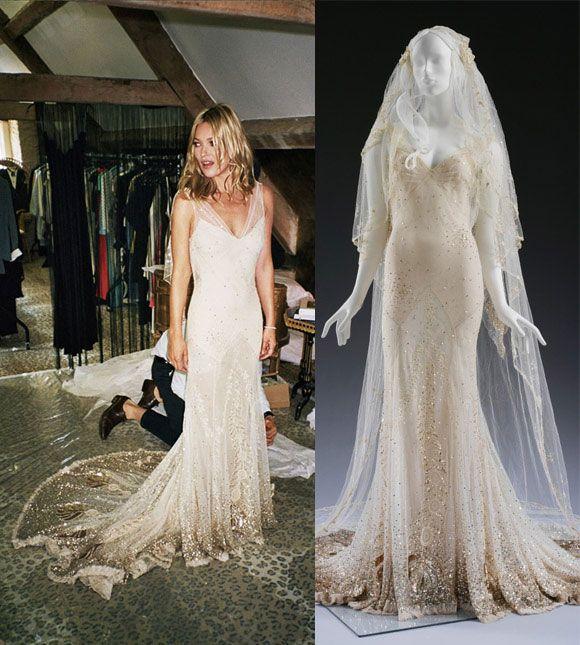 As Cores Das Noivas Kate Moss Wedding