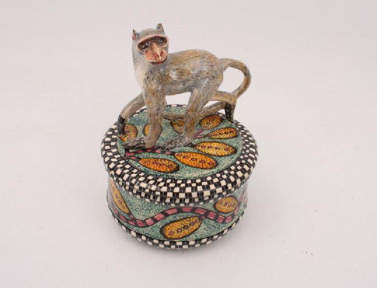 Ardmore Monkey Jewelry Box