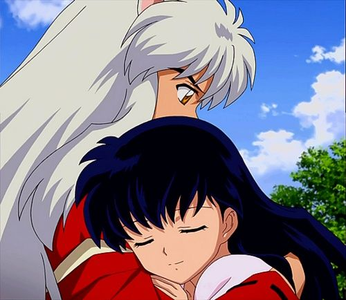 Inuyasha 3: InuYasha Holding Kagome After 3 Years At The End Of The
