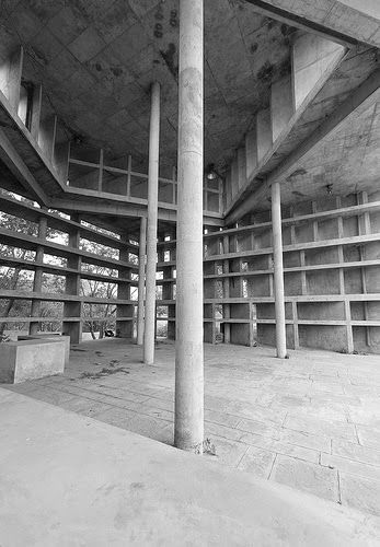 """Tower of Shadows Chandigardh, India. 1952 Architect: Le Corbusier """"A very open hall, very high and shadowy(...) the sun can be control..."""