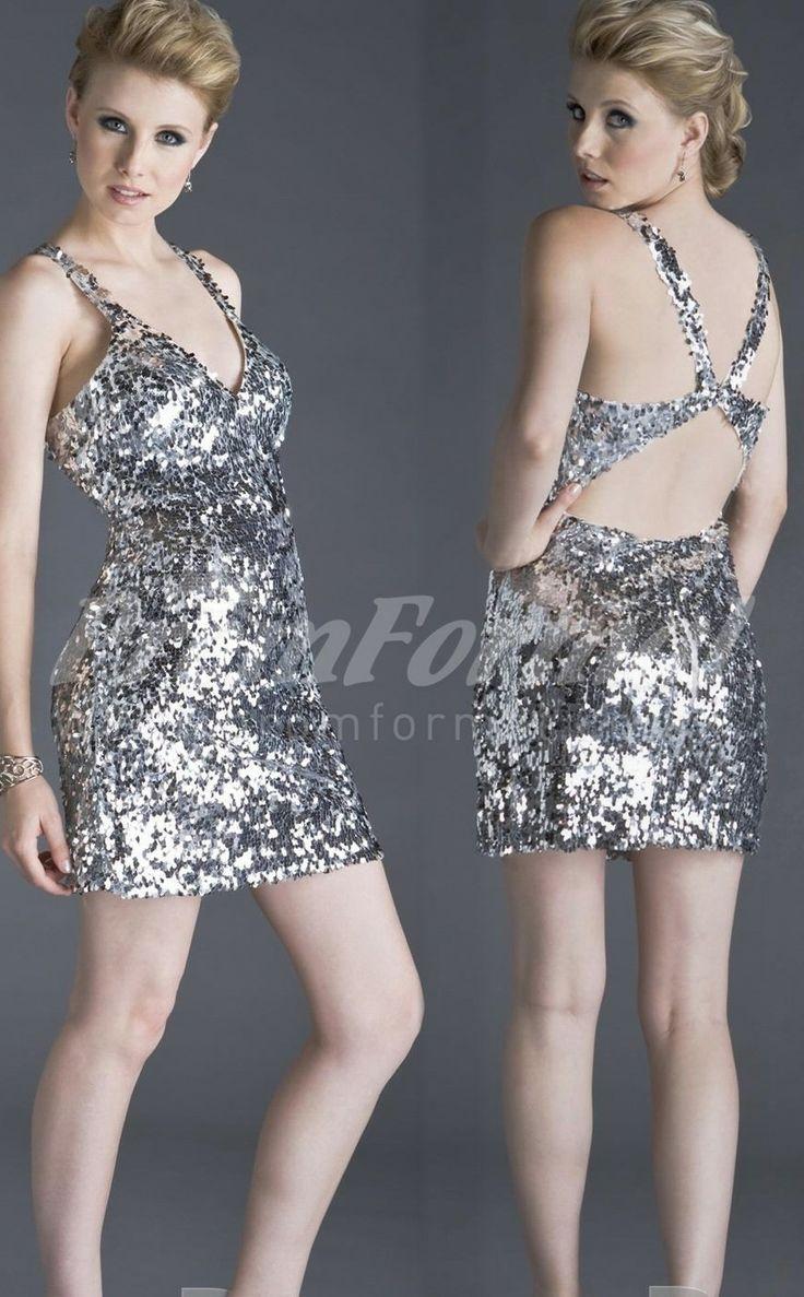 Silver short prom dresses,short prom dresses uk