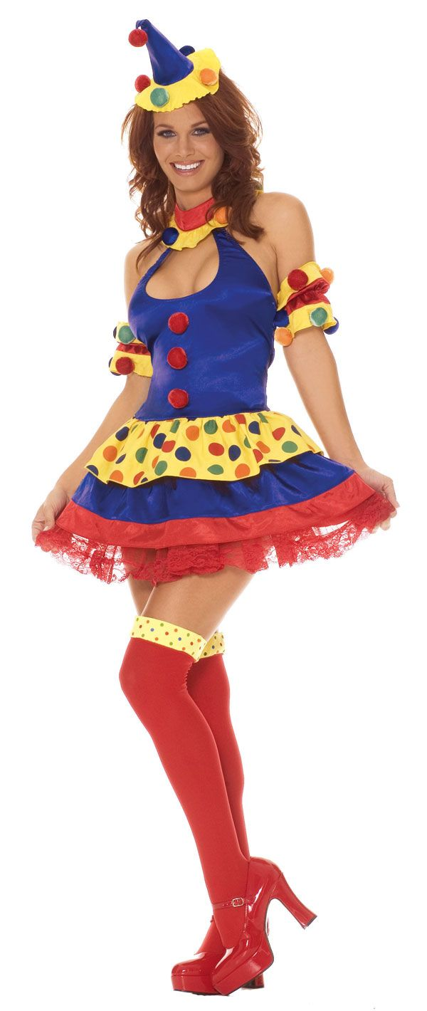 Sexy Clowning Around Clown Costume - Clown Costumes