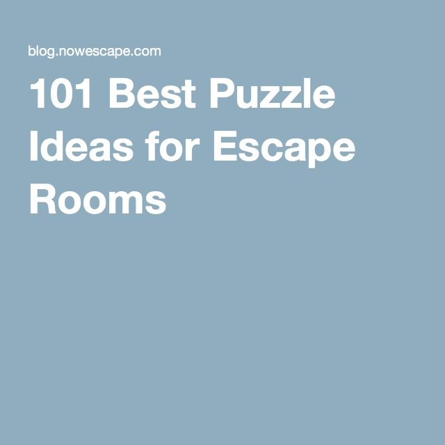 101 Best Puzzle Ideas for Escape Rooms