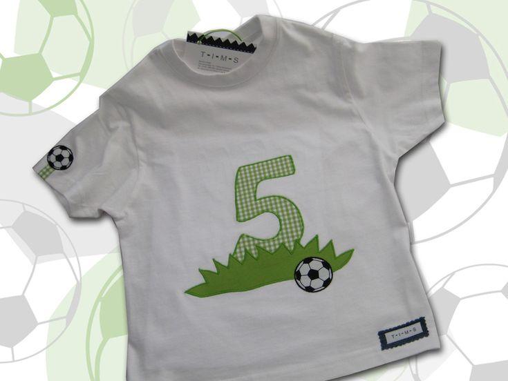 T-Shirts - Fußball-Geburtstags-Shirt - ein Designerstück von T-I-M-S bei DaWanda