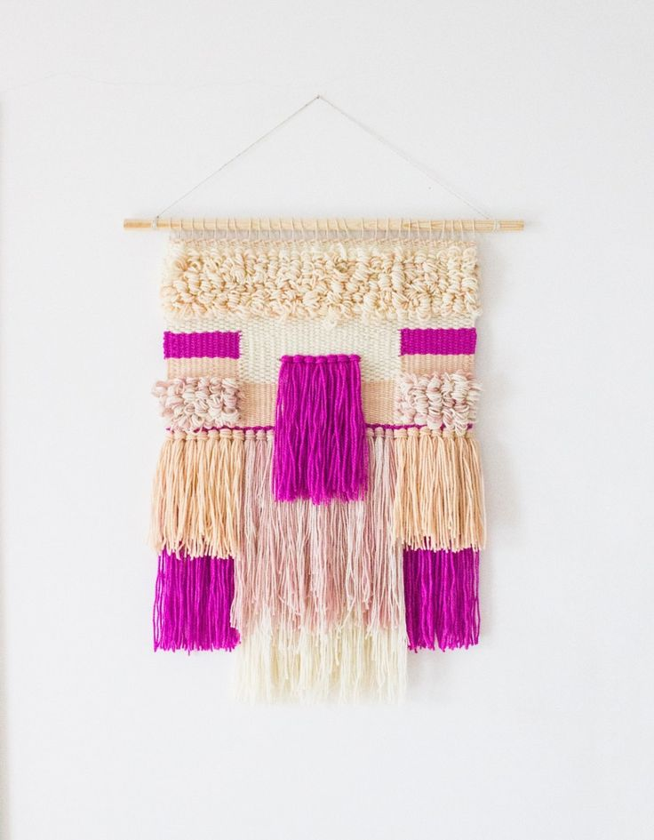 Woven wall art is a super chic way to spruce up your wall space.