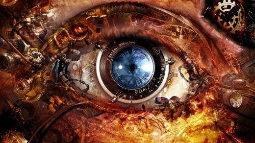 Mechanical Blue Eye