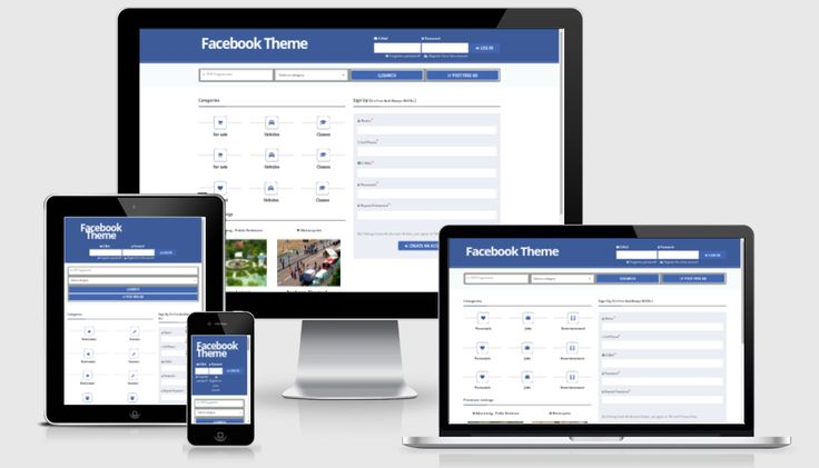 Rackons Facebook Theme For Osclass : Rackons Facebook Theme is flexible, professional, responsive osclass theme with clean modern and well structured design