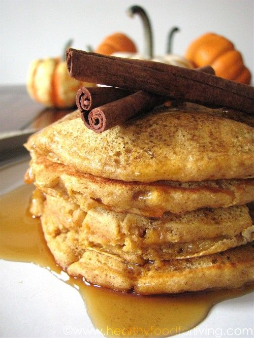 Pumpkin Spice Latte Pancakes (or just pumpkin spice pancakes if you take out the coffee).: Thanksgiving Breakfast, Pumpkin Spice Latte, Sweet, Pumpkin Pancakes, Healthy Food, Breakfast Brunch