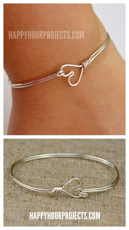 DIY Wire Heart Bracelet Tutorial from Happy Hour Projects. If this is your first…