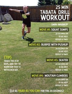 Tabata Tuesday! 30 minute workout with Tabata Drill Card Included -