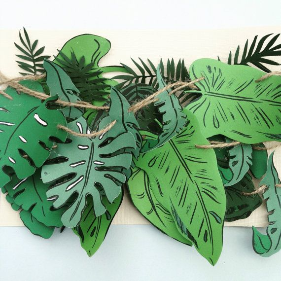 Extra large botanical wedding paper garland by coffeeANDpaper