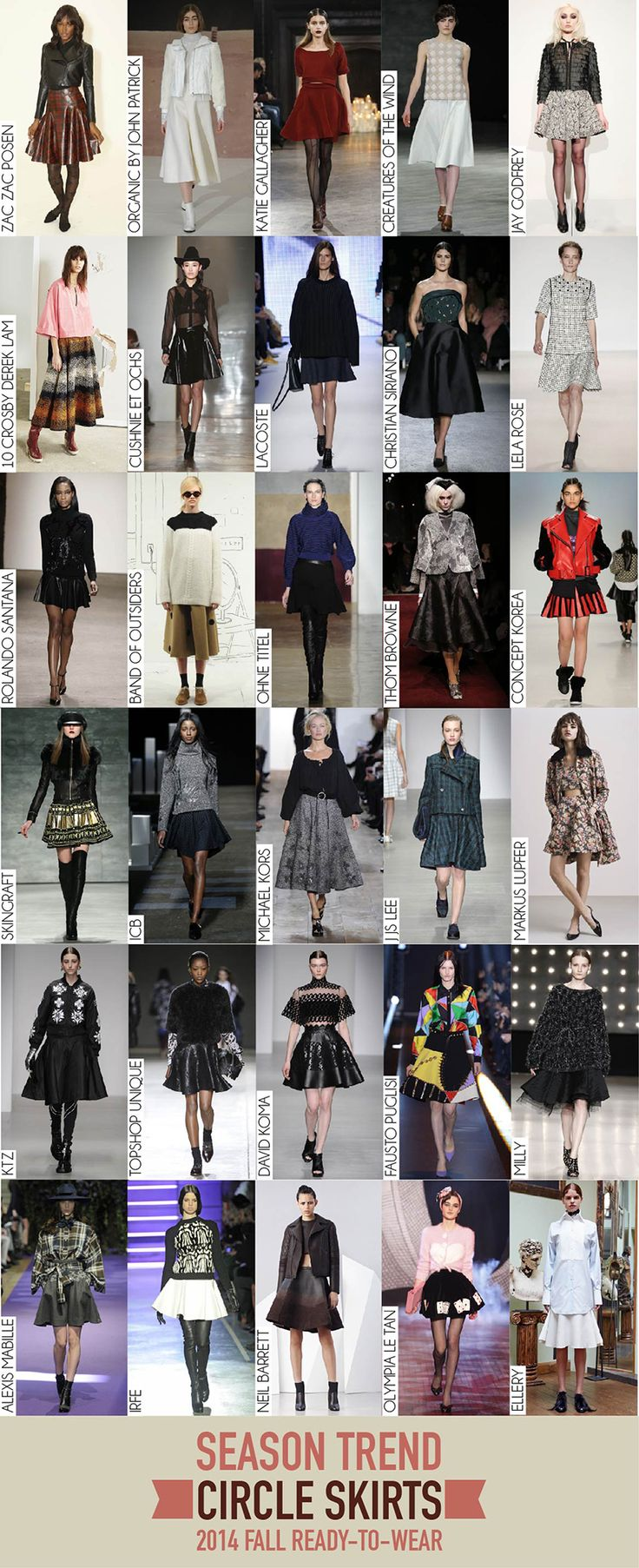 Circle Skirts Trend - 2014 Fall RTW Review