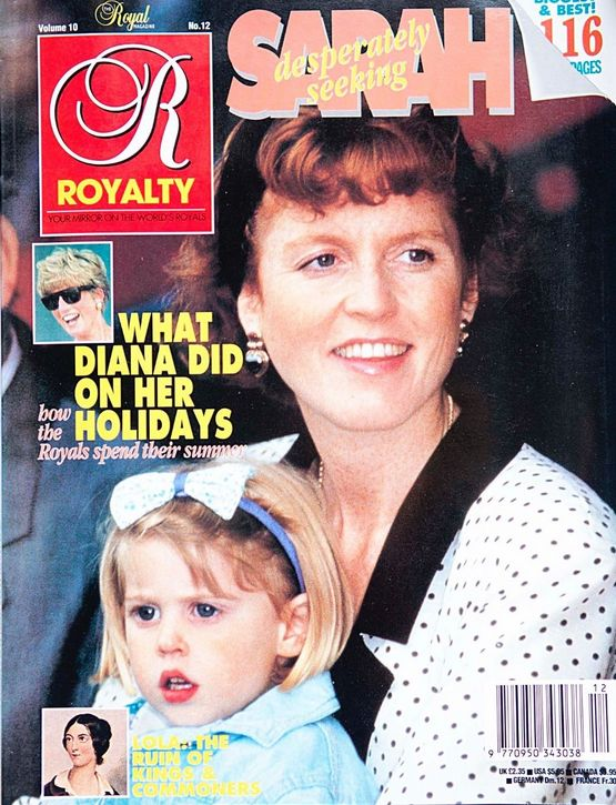 Royalty Monthly Magazine Vol 10 Issue 12 Sept 1991 Diana Sarah Ferguson