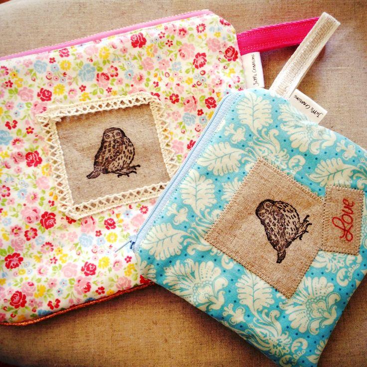 Owl love zip pouches