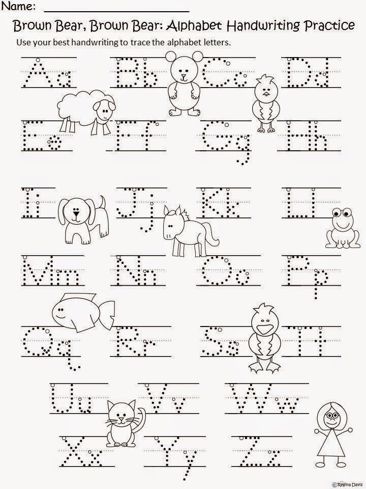 Free: Brown Bear, Brown Bear What Do You See (by Bill Martin, Jr. and Eric Carle) Handwriting Sheet.  For Educational Purposes Only....Not For Profit. Enjoy! Regina Davis aka Queen Chaos at Fairy Tales And Fiction by 2.