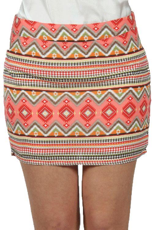 De Ibiza print is HOT! Waan je een ware celeb in deze mooie kleurrijke rok met een happy print erop. De rok heeft een bod con model en stretcht mee om je rondingen. Perfect voor elk figuur.   #newfashion #skirts  www.2dayslook.com