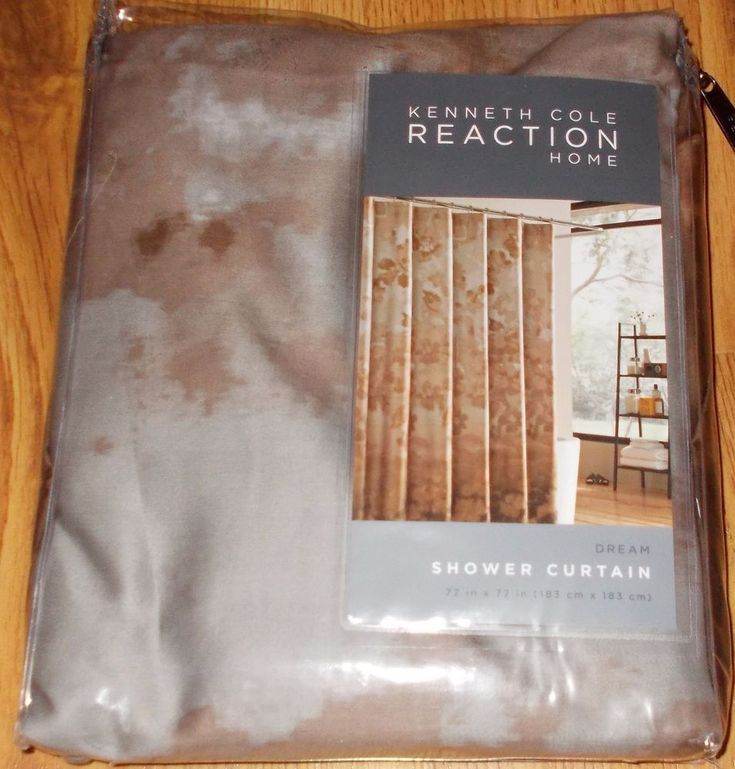 Kenneth Cole Reaction Dream Autumn Gray Brown Shower Curtain 72 x 72 Bath  #KennethColeReaction #Moden