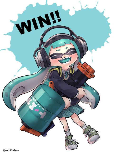 Inkling | Splatoon This is the happiest Inkling I have ever seen.
