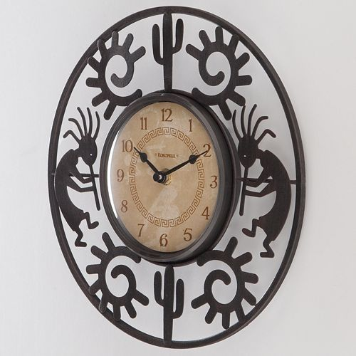 kokopelli outdoor decor | ... in a Southwestern tradition with this FirsTime Kokopelli wall clock