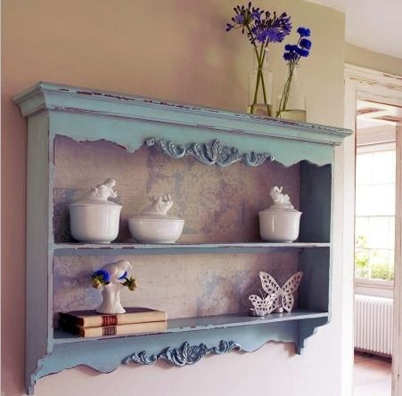 Customer Image Gallery For Shabby Chic Annie Sloan Chalk Paint Duck Egg Blue Kitchen Wall Shelf Rack Just Because I Like It Racks