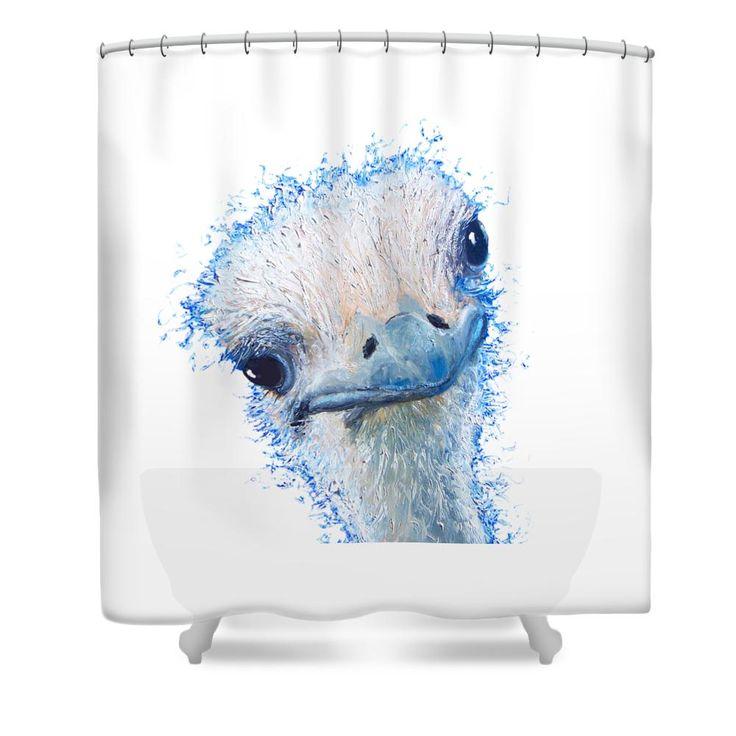 emu design Shower Curtain #showercurtains #bathroomaccessories #bathroomdecor #showerscreen