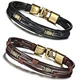#6: FIBO STEEL Leather Bracelet for Men Braided Wrist Cuff Vintage 8.5inches http://ift.tt/2cmJ2tB https://youtu.be/3A2NV6jAuzc