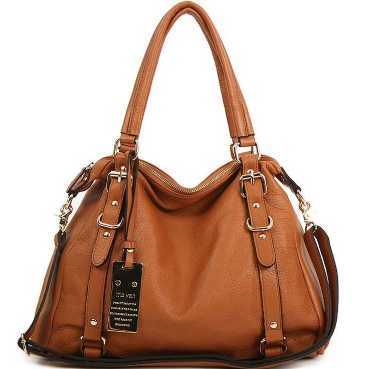 Details About New Leather HandBag Shoulder Women Bag Brown