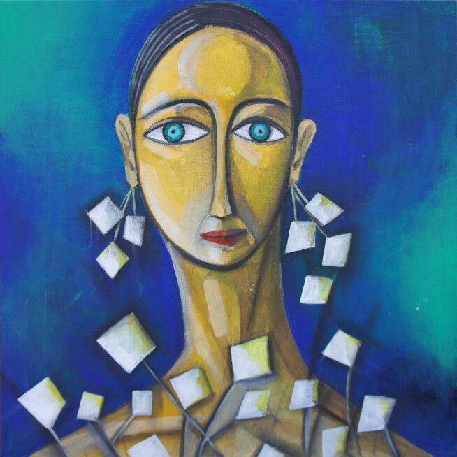"""""""Jasmine"""" 40x40 acrilic on canvas /2013/  www.lora-nikolova.com"""
